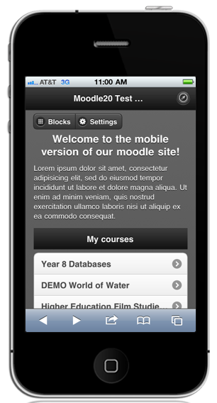 Moodle MyMobile Theme