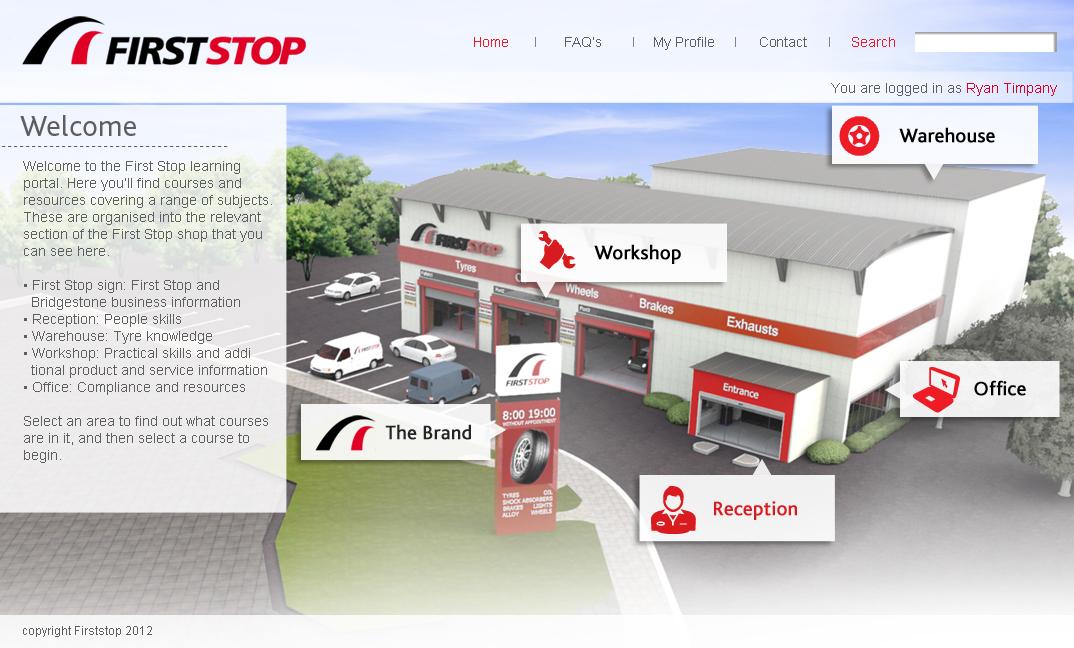 First Stop / Bridgestone Tyres Moodle Screenshot